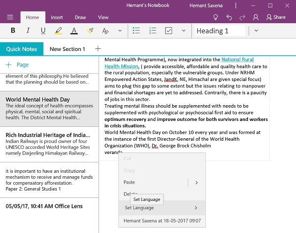 OneNote app for Windows 10 v17.8241.5759 gets a huge update