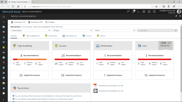 Azure Advisor - your personalized best practices service got better | Blog | Microsoft Azure
