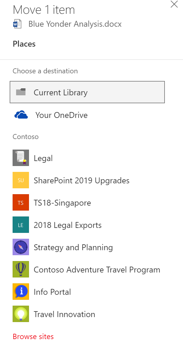 Now  move files anywhere in Office 365, SharePoint and OneDrive - Microsoft Tech Community