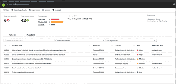 Announcing SQL Advanced Threat Protection (ATP) and SQL Vulnerability Assessment general availability   Blog   Microsoft Azure