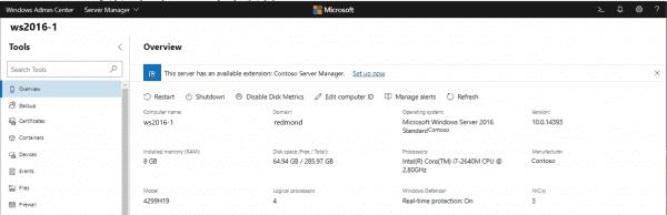 Announcing Windows Admin Center Preview 1903 | Windows Experience Blog