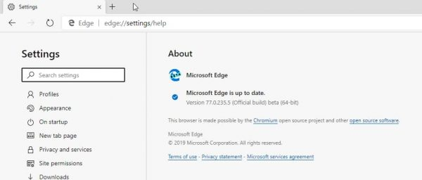 Microsoft Edge Beta is now based on Chromium 77, here is what's new
