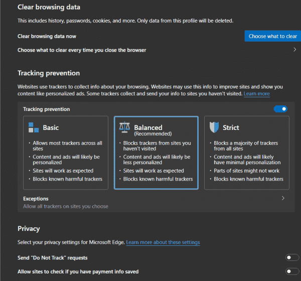 Microsoft Edge: New AutoPlay Blocking Options, Updated Tracking Prevention