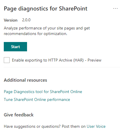 Announcing availability of an updated Page Diagnostics Tool for SharePoint - Microsoft Tech Community - 859877