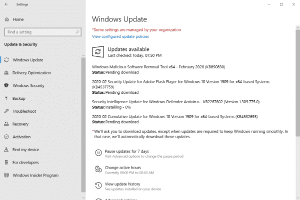 Microsoft Windows Security Updates February 2020 overview - gHacks Tech News