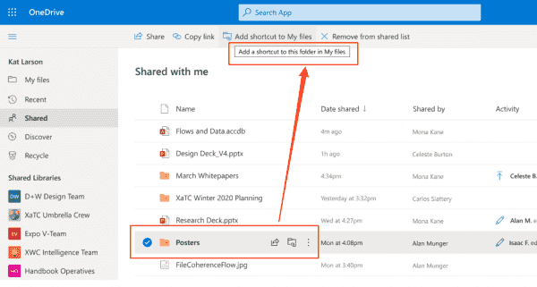 OneDrive will soon allow you to add shortcuts to shared folders   OnMSFT.com