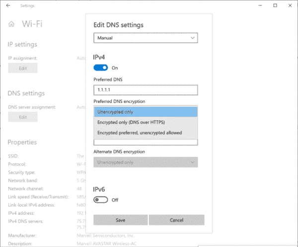 Windows 10 build 20185 comes with encrypted DNS settings - gHacks Tech News