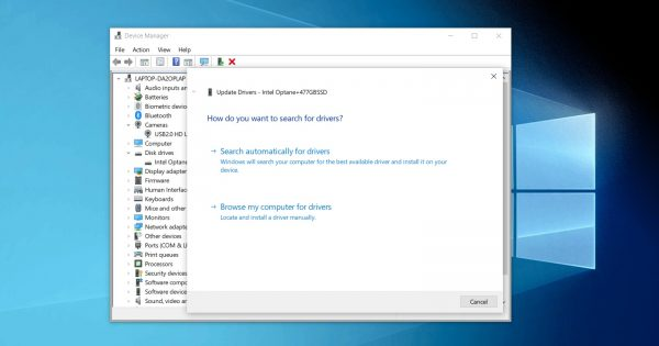 Windows 10 Device Manager is losing internet driver updates feature