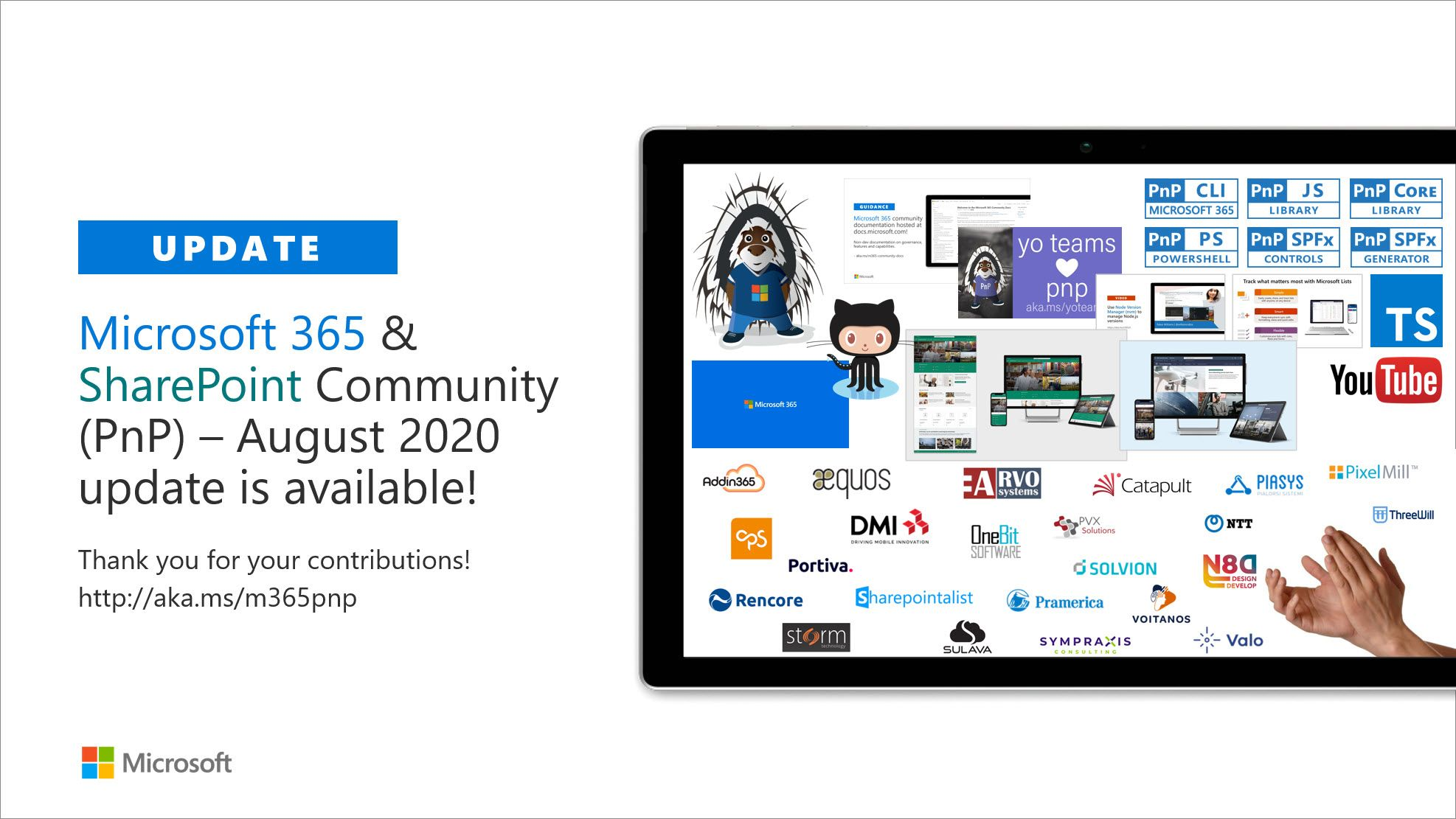 SharePoint Community (PnP)  August 2020 update