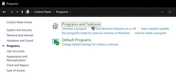 Microsoft replaces classic Programs and Features with the Settings app in Windows 10
