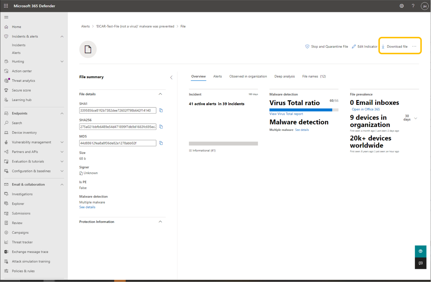 Download quarantined files now in public preview - Microsoft Tech Community
