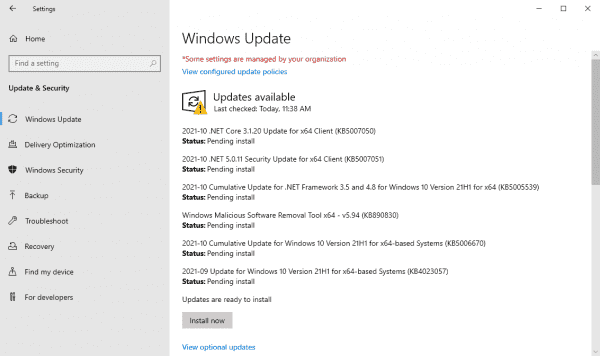 KB5006670 for Windows 10 is having quite a few issues, some unconfirmed - gHacks Tech News