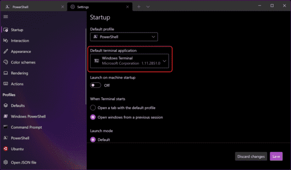 Windows Terminal Preview 1.12 is out, can be set as your default console