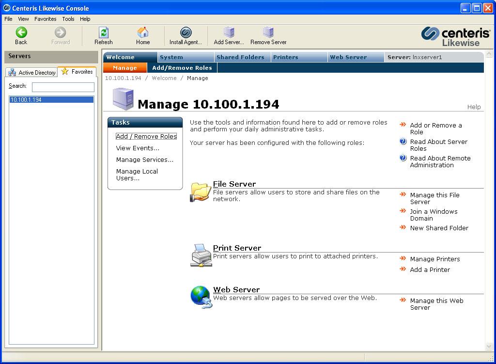 print server windows and linux
