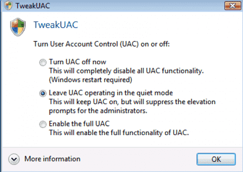 Vista User Account Control statistics and changes to UAC in Windows 7