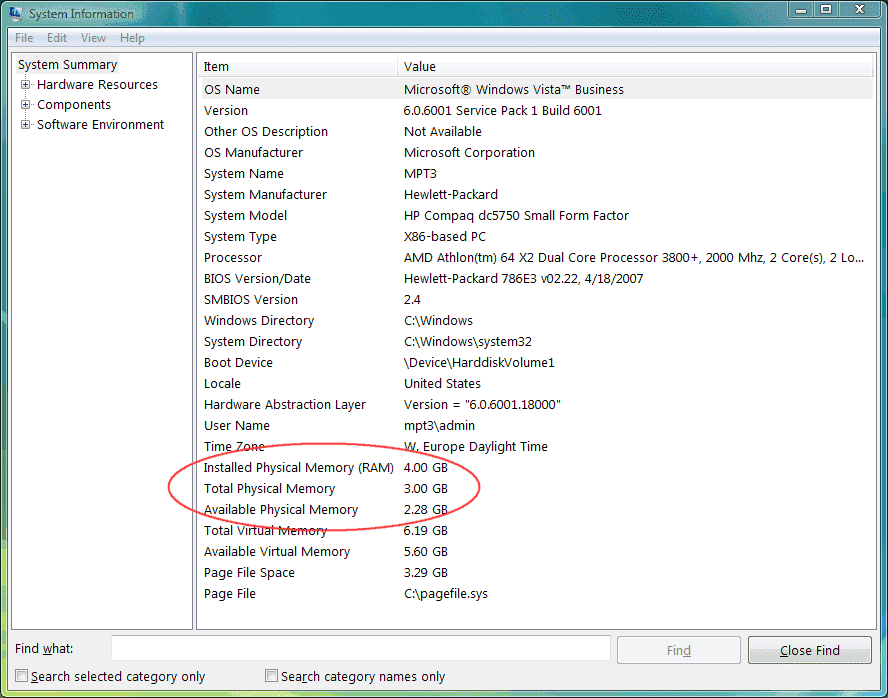 How much memory is 4GB?