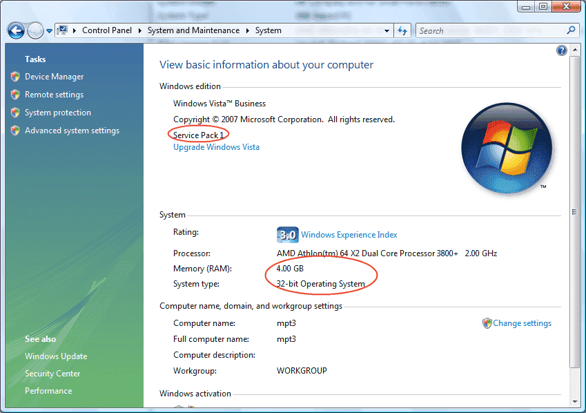 Why Windows Vista Only Sees 3gb Memory In A Pc With 4gb