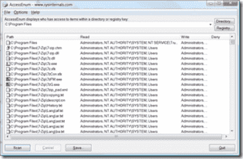 FREE: AccessEnum - Displays directory and registry permissions