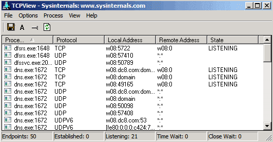Sysinternals Tcpview - фото 6