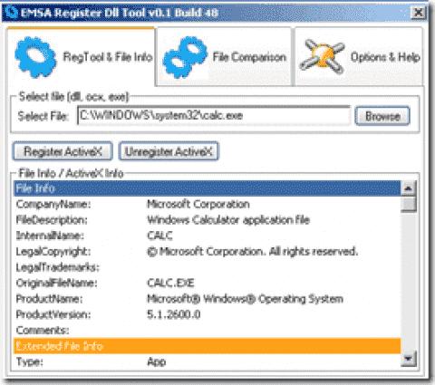 FREE: EMSA Register DLL Tool - Register programs with a GUI