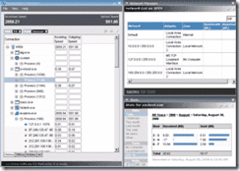 FREE: NetLimiter Monitor - displays transfer rates of processes