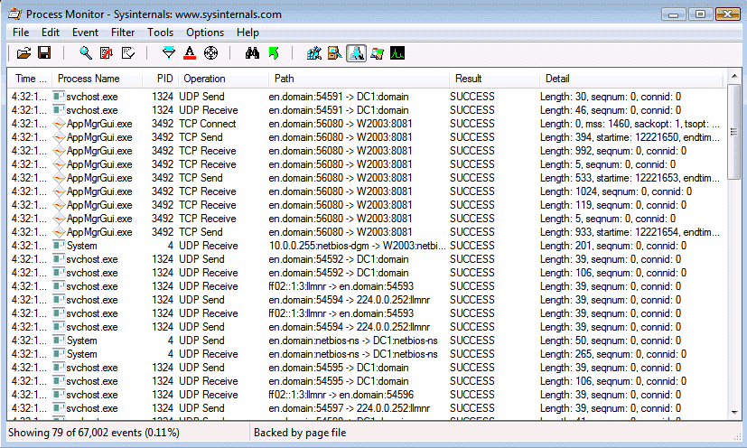 Process Monitoring System : Free process monitor view file system registry and
