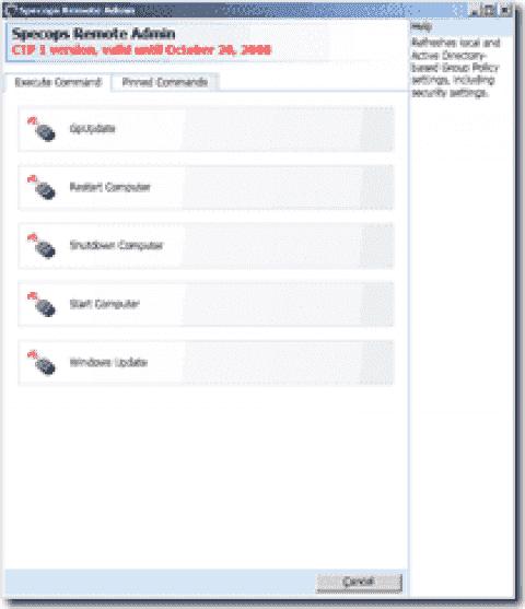 FREE: SpecOps Gpupdate - WOL, gpupdate, remote restart