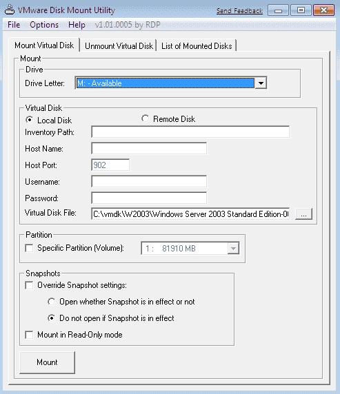 FREE: VMware DiskMount GUI – Mount VMDK files – 4sysops