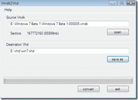 FREE: Vmdk2Vhd - Convert VMware VMDK to Hyper-V VHD