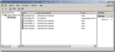FREE: Quest Object Restore for Active Directory – Undelete AD objects