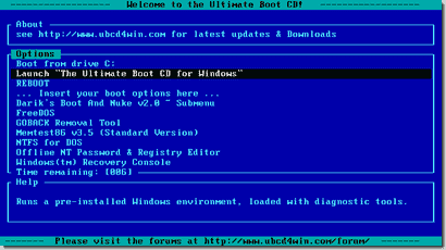 Ultimate-Boot-CD-start-screen