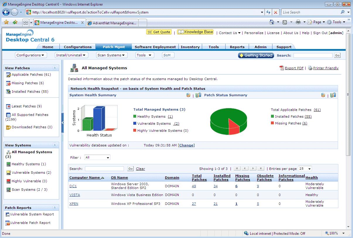 Download free ManageEngine Desktop Central last version