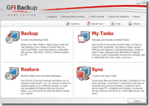 GFI Backup - free backup software for desktops and laptops
