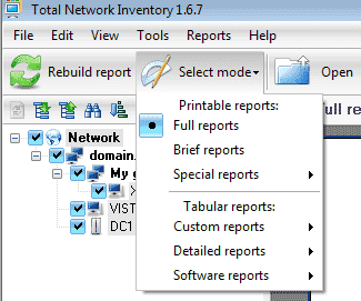 total network inventory reports