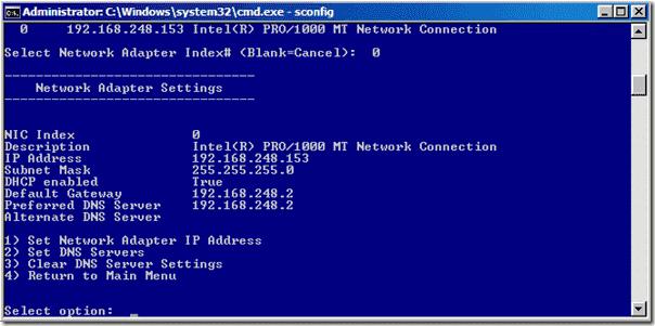 sconfig-network-settings