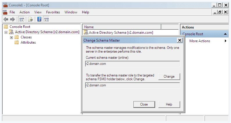 Active directory schema.