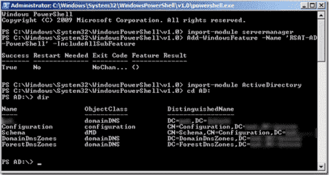 Active Directory management with PowerShell v2