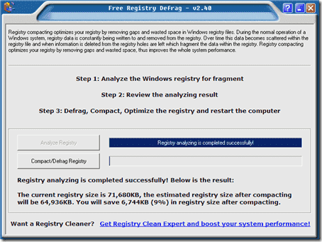 Free-Registry-Defrag