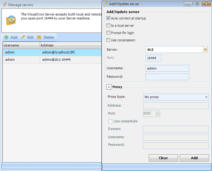 Raffle: VisualCron – Central task scheduling for Windows