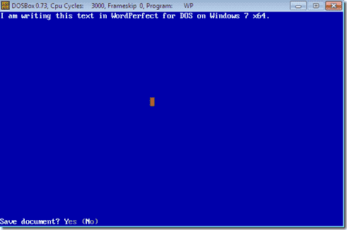 DOSBox-WordPerfect-5.1