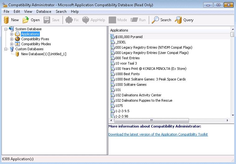 microsoft application compatibility toolkit 64 bit