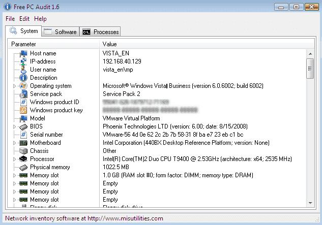 pc hardware inventory