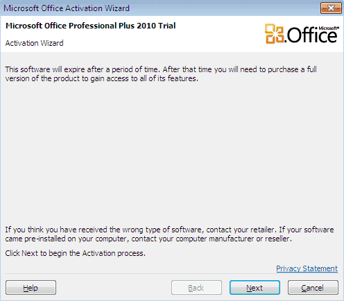 cannot install office 2010 on windows xp