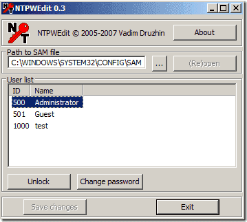 FREE: NTPWEdit – Reset Windows 7 password – 4sysops