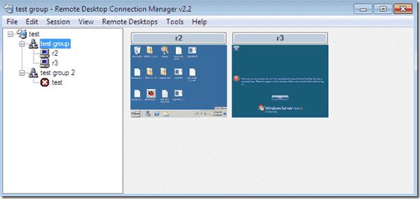 Remote Desktop Connection Manager Group