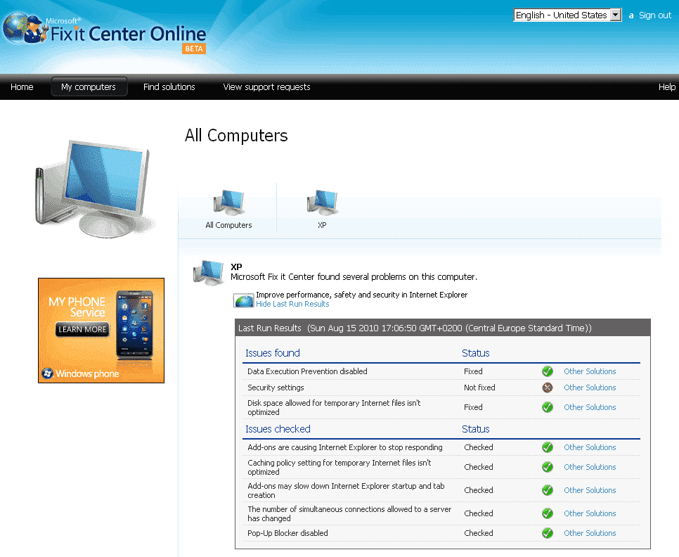 Fix Windows Computer Problems with Microsoft Fix it Center