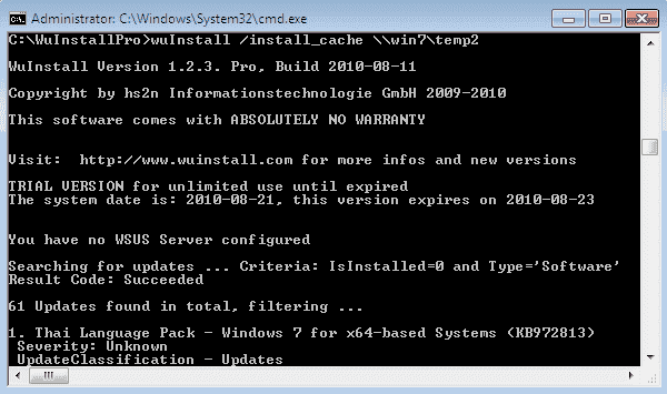 WuInstall – Push Windows updates to clients from a central cache – 4sysops