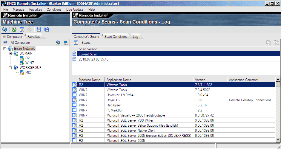 Free software inventory software – EMCO Remote Installer