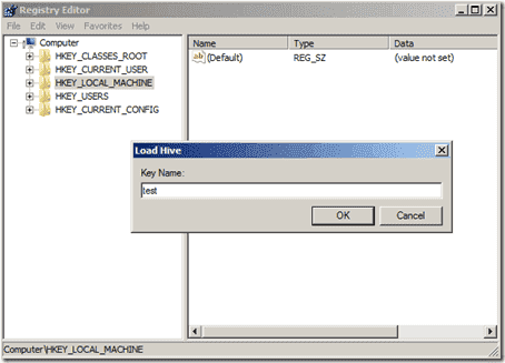 Offline Registry Editor - Load Hive
