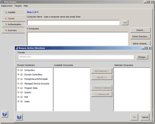Software Deployment Software - PDQ Deploy - Targets